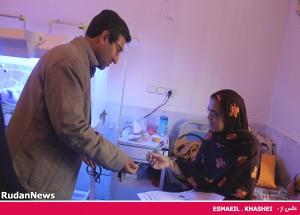 عیادت از بیماران بستری بیمارستان علی ابن ابیطالب (ع)  در هفته سلامت