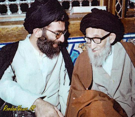 رودان نیوز : تصویر رهبر معظم انقلاب در کنار پدر بزرگوارشان