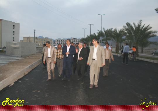 فضای سبز مسکن مهر رودان قبل از افتتاح