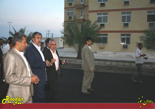 فضای سبز مسکن مهر رودان بعد از افتتاح