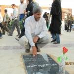قبور مطهر شهدای شهرستان رودان غبارروبی و عطرافشانی شد+ تصاویر