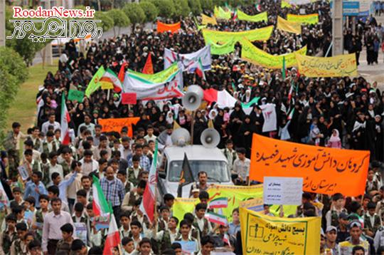 تقدیر فرماندار رودان از حضور حماسی مردم در راهپیمایی یومالله 13 آبان