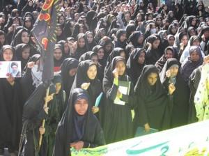 گزارش تصويري/ تجمع پرشور مردم رودان در سالروز حماسه 9 دي
