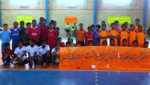 مسابقات فوتسال جام فجر در بخش جغین رودان آغاز شد