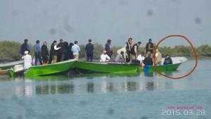 عکس/ قایق سواری امروز روحانی در قشم