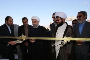 تصاویر/ افتتاح نخستین بیمارستان قشم توسط روحانی