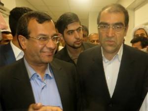 همراهی مسئولان بهداشت و درمان فارس با وزیر بهداشت در پارسیان هرمزگان