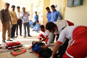 مانور پدافند غیر عامل در مدارس رودان اجرا شد