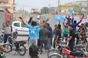 حرمت شکنی طرفداران تیم برنده در دربی پایتخت درایام فاطمیه (س)در رودان +تصویر