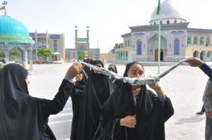 اعزام ۸۸ نفر از خواهران و برادران بسیجی به اردوی راهیان نور+تصویر