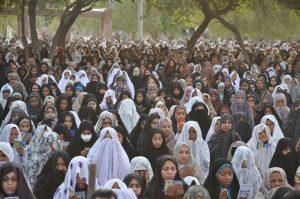 نماز عید فطر در شهرستان رودان برگزار شد+تصویر