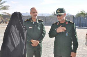 سردار ترابی به دیدار خانواده معظم شهداء در رودان رفت + تصویر