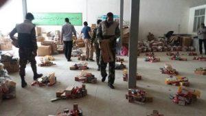 فعالیت امدادی گروه جهادی رودان در مناطق زلزله زده کرمانشاه +تصویر