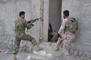 اجرای رزمایش مبارزه با تروریست توسط گردان الی بیت المقدس خراجی +تصویر
