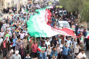 حضور بی نظیر مردم ولایتمدار رودان در راهپیمایی ۲۲ بهمن ماه+تصویر