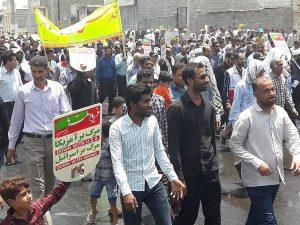 راهپیمایی مردم انقلابی رودان برای دفاع از فلسطین مظلوم+تصاویر