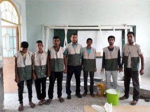 اردوی جهادی بسیج دانش آموزی/تلاش مخلصانه برای زیباسازی کلاس درس دانش آموزان