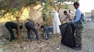 جمع آوری زباله های حومه شهر رودان توسط گروهای جهادی حوزه مقاومت بسیج امام جعفرصادق(ع)