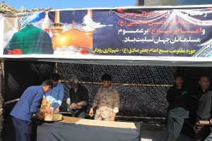 برپایی ایستگاه صلواتی به مناسبت رحلت نبی اکرم و شهادت امام حسن مجتبی(ع) در مرکز شهر رودان+عکس