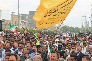 مردم ولایتمدار رودان با حضور گسترده در راهپیمایی ۲۲بهمن ۴۰سالگی انقلاب اسلامی را جشن گرفتند