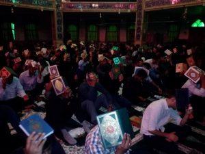 مراسم احیاء شب بیست و یکم رمضان در مسجدحضرت ابوالفضل(ع) رودان