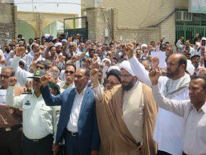 حمایت نمازگزاران جمعه شهرستان رودان از تعلیق تعهدات برجامی دولت