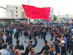 رخت عزای تاسوعای حسینی بر تن مردم رودان+تصاویر