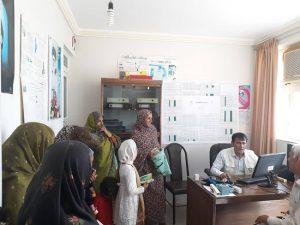 ویزیت رایگان ۵۵ نفر از اهالی روستای بادافشان رودان+عکس