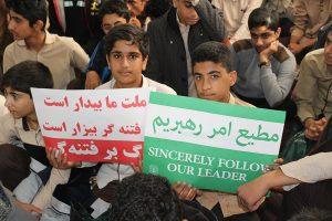 مراسم گرامیداشت حماسه ۹دی در رودان برگزار شد+تصاویر