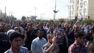 راهپیمایی نمازگزاران جمعه رودان در محکومیت شهادت سردار حاج قاسم سلیمانی
