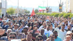 برگزاری راهپیمایی نمازگزاران جمعه رودان در حمایت از اقتدار نظام اسلامی+عکس