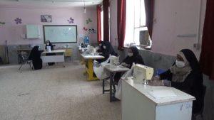 تولید روزانه ۵هزار ماسک در ۱۷کارگاه خیاطی شهرستان رودان+عکس