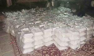 بیش از ۲۱هزار پرس غذای گرم در طرح «اطعام حسینی» دهستان آبنما رودان پخت و توزیع شد