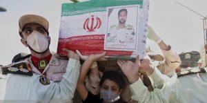 پیکر مطهر مرزبان شهید اصغر سالار پور در رودان تشیع و به خاک سپرده شد+عکس