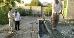 ساخت مسکن برای نیازمندان با جهاد بسیجیان رودانی