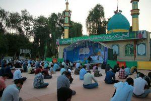 برگزاری مراسم دعای ندبه در امامزاده شاه قطب الدین حیدر(ع) رودان